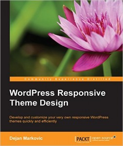 WordPress Responsive Theme Design book cover