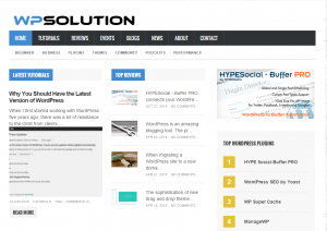 WPSolution screen shot